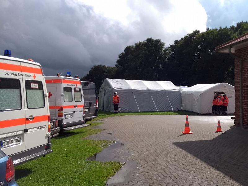 Katastrophenschutz: Aufbau einer Behandlungsstelle