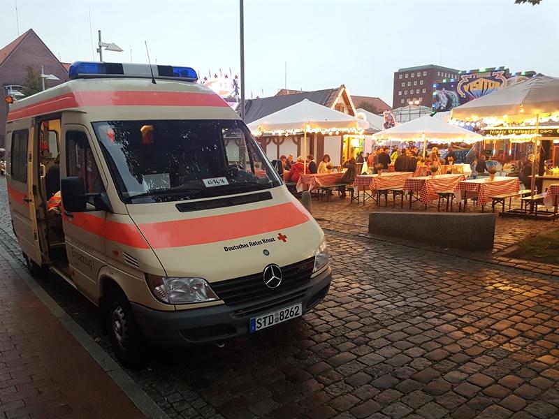 Sanitätsdienst beim Jahrmarkt in Stade