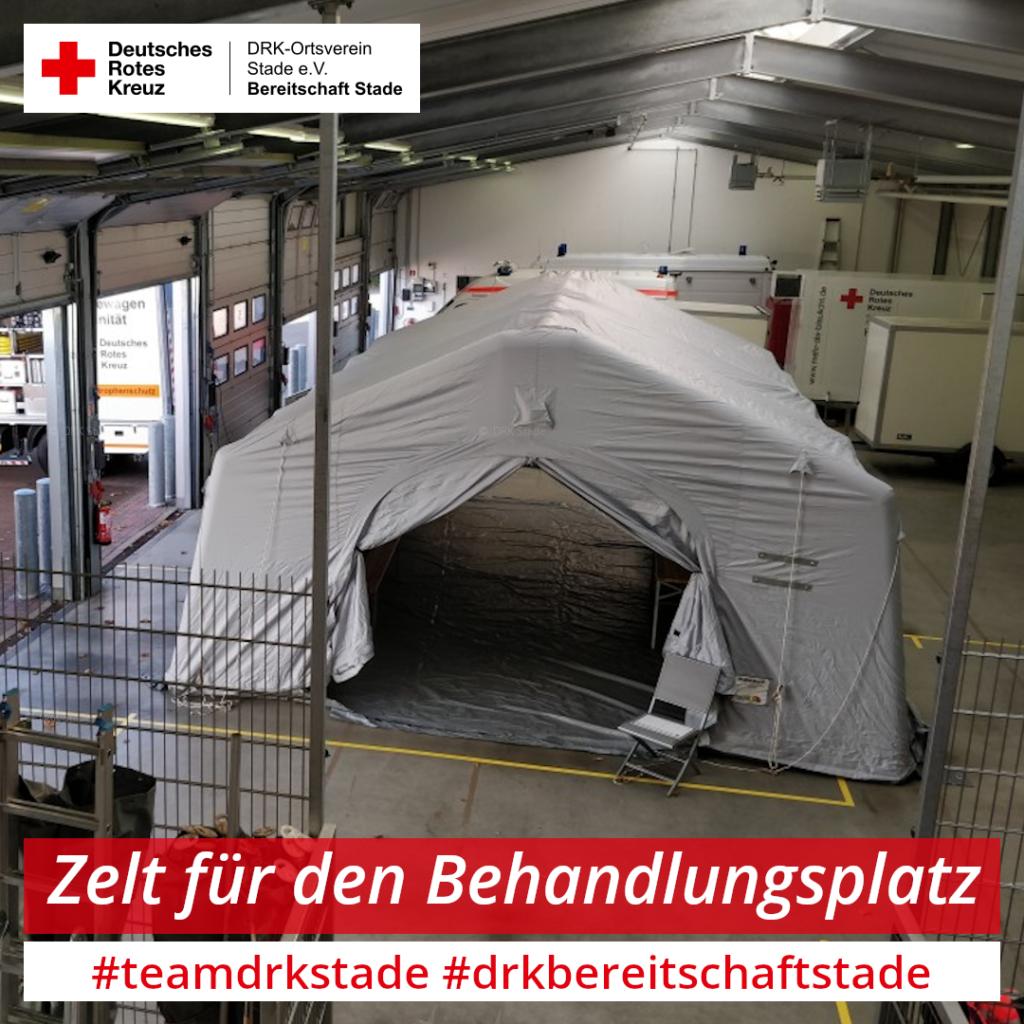 Zelte für den Behandlungsplatz