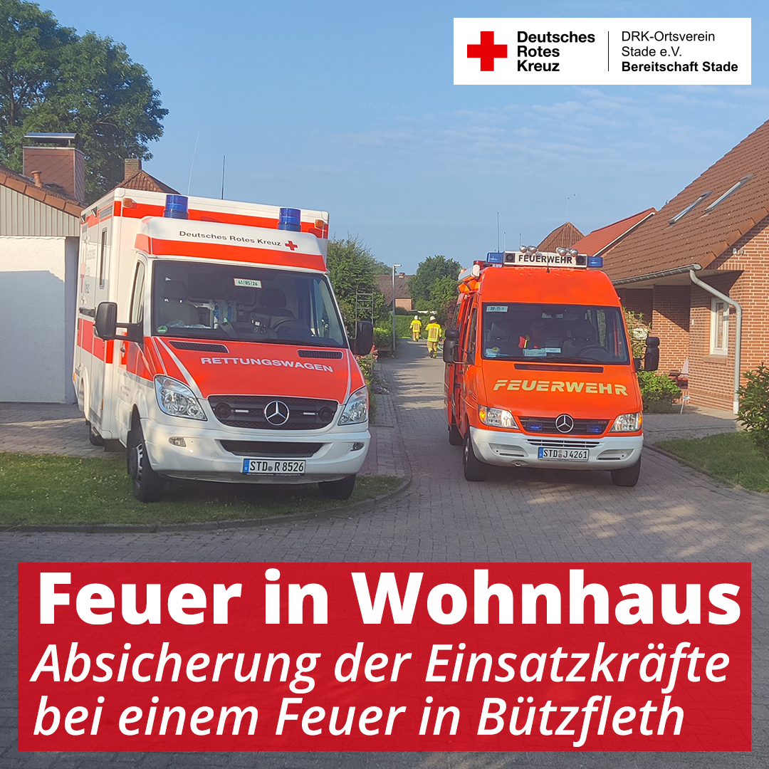 2021-06-26 - Einsatz Feuer in Wohnhaus in Bützfleth - 1 - mah