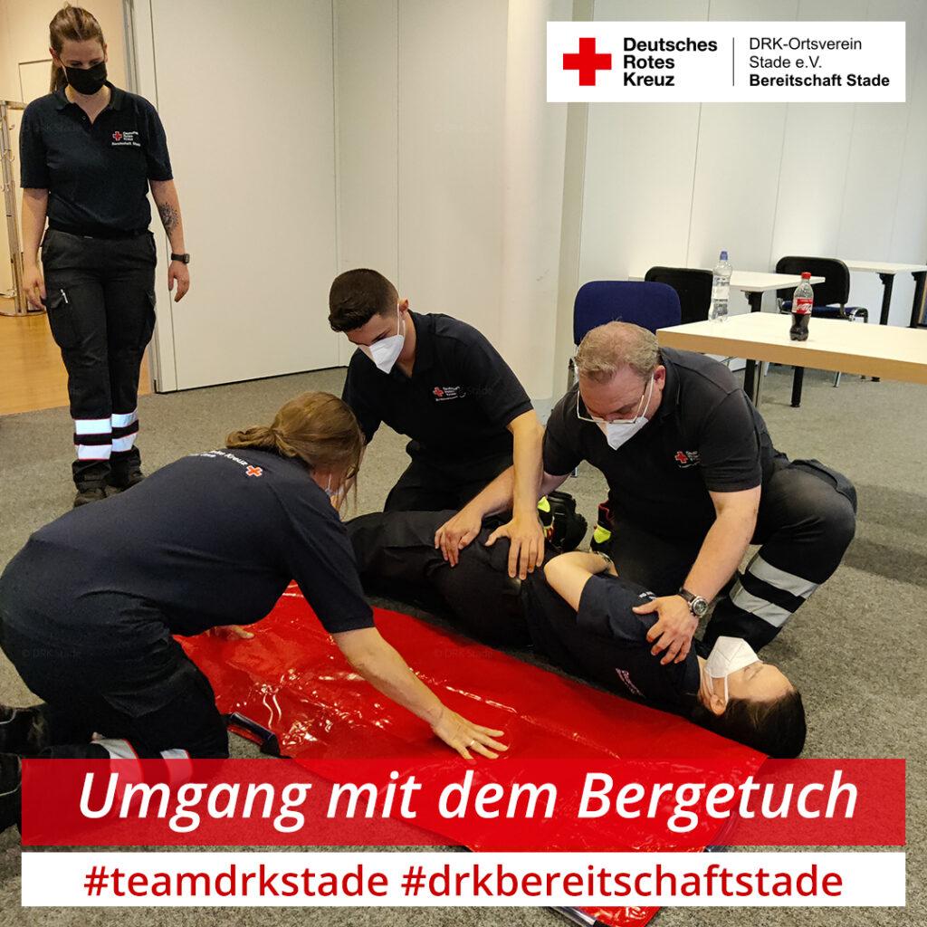 2021-07-07 - Dienstabend Immobilisation und Transport von Patienten - Bergetuch - mah