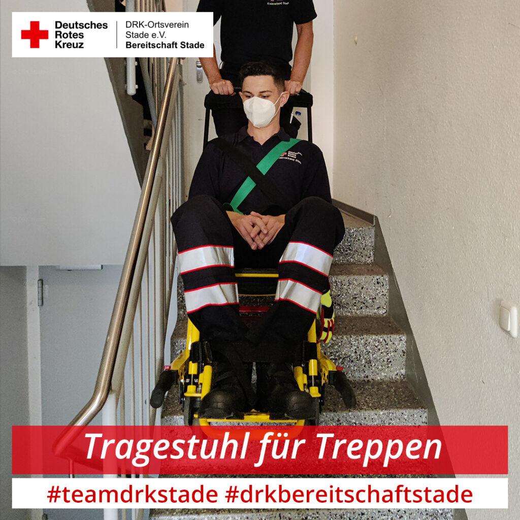 2021-07-07 - Dienstabend Immobilisation und Transport von Patienten - Tragestuhl - mah